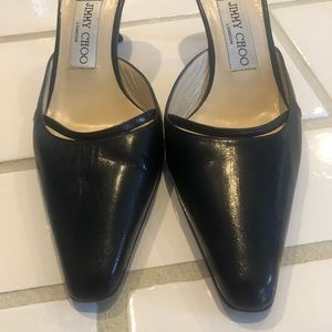 Jimmy Choo Shoes - Jimmy Choo black leather slides